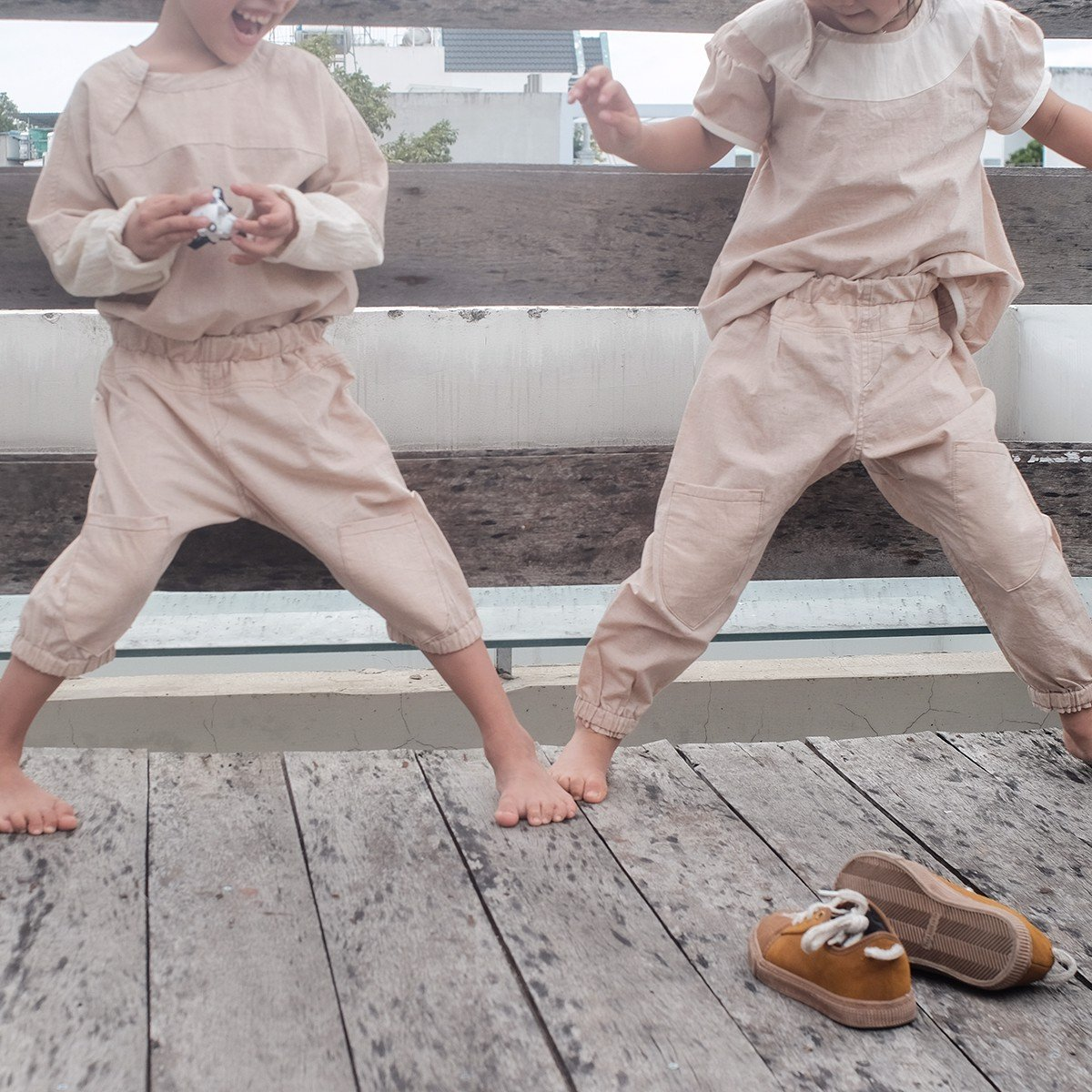CHOI HANDMADE Quần jogger Pure cotton color