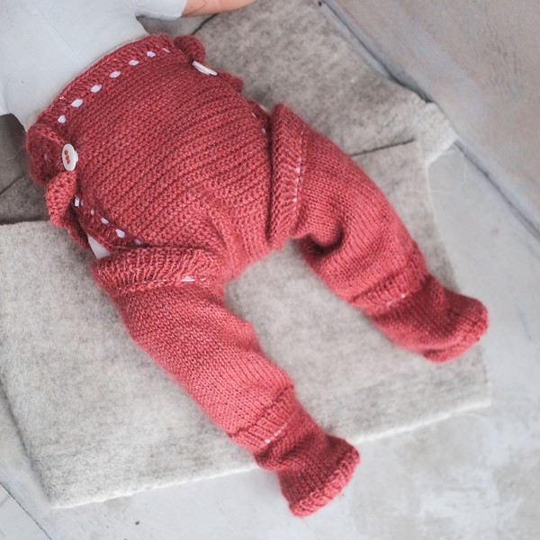 CHOI KNITTED Tất ống Alpaca Red