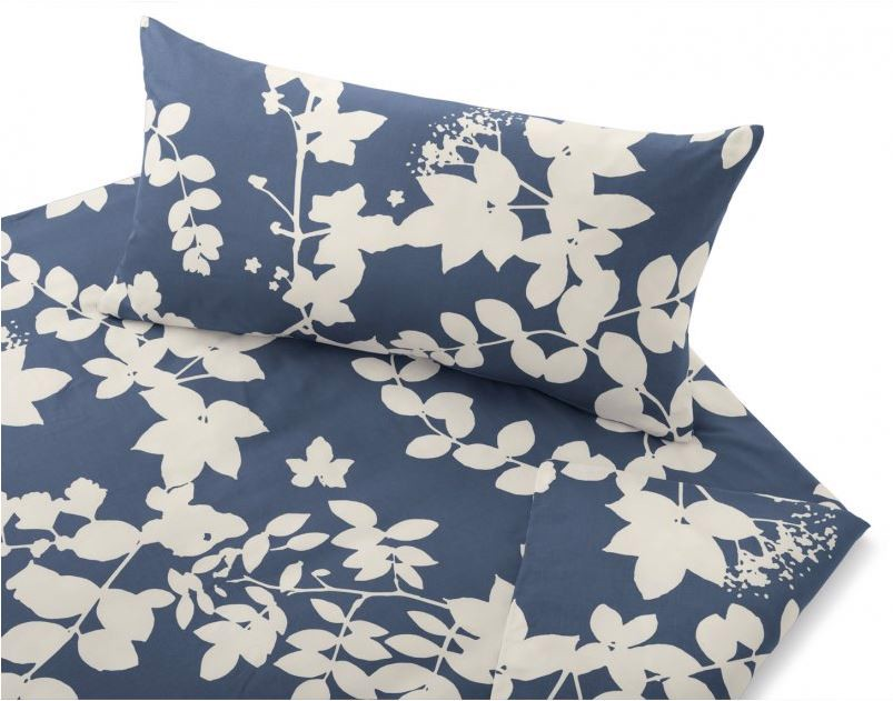 COTONEA Satin Evergreen Bedding màu navy