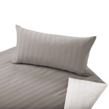 COTONEA Satin Linea Bedding reversible Nutmeg/Nature