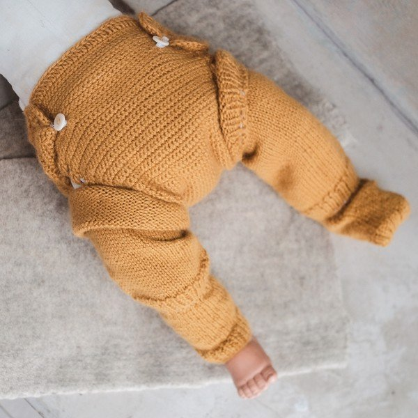CHOI KNITTED Tất ống Alpaca Yellow