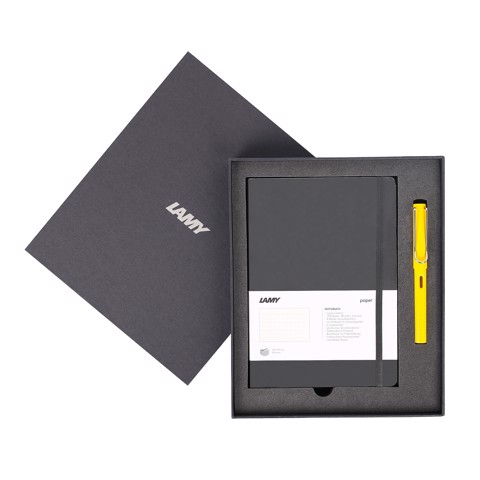 Gift set LAMY Notebook A5 softcover black + LAMY Safari Yellow