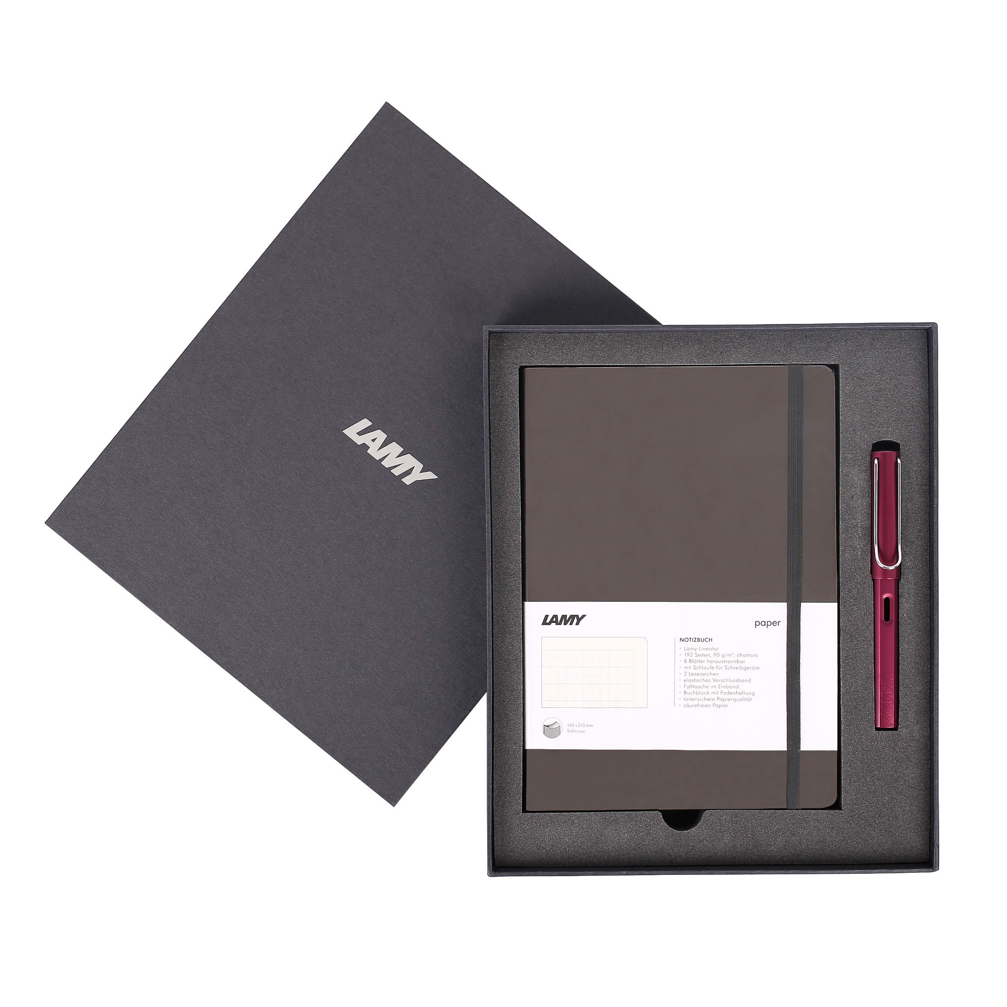 Gift set LAMY Notebook A5 softcover Umbra + LAMY Al-star Purple