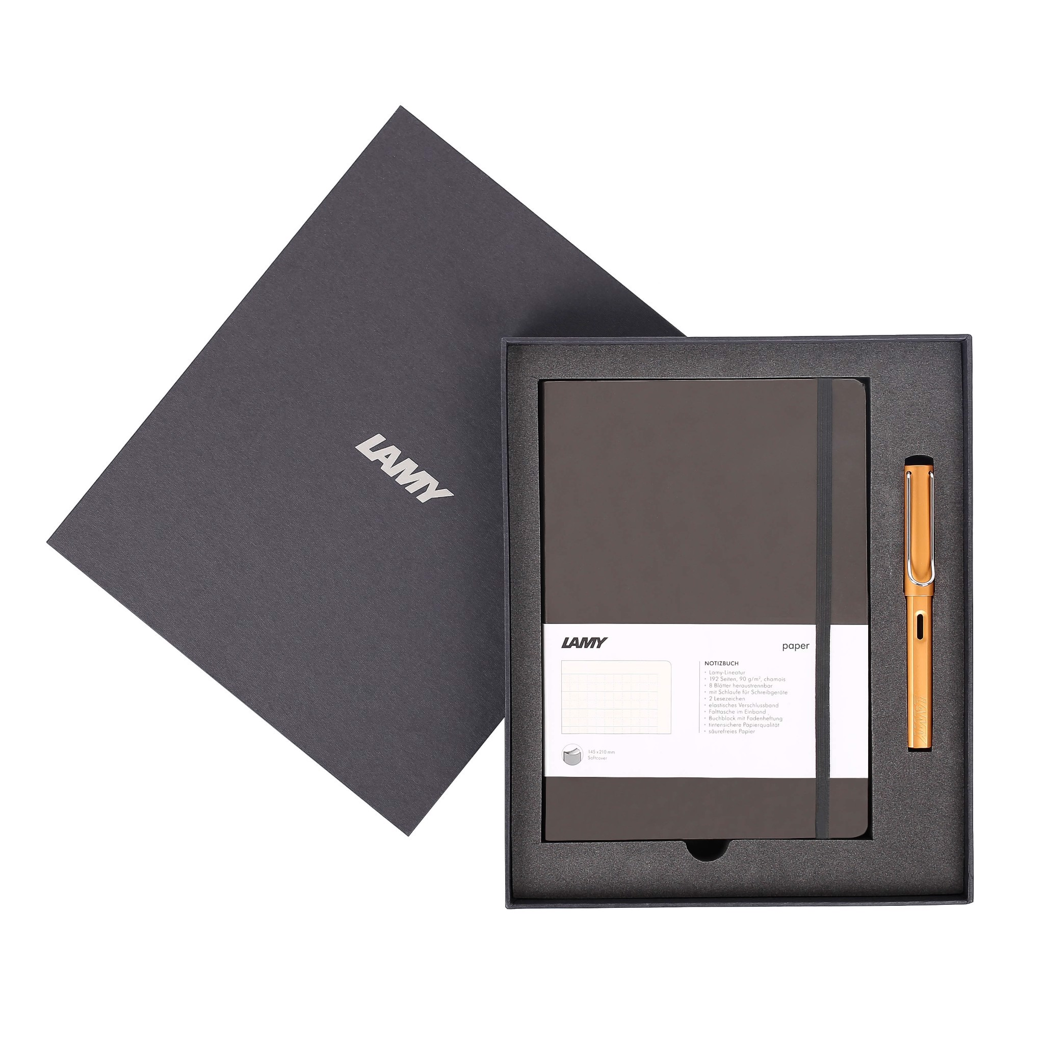Gift set LAMY Notebook A5 softcover Umbra + LAMY Al-star Bronze