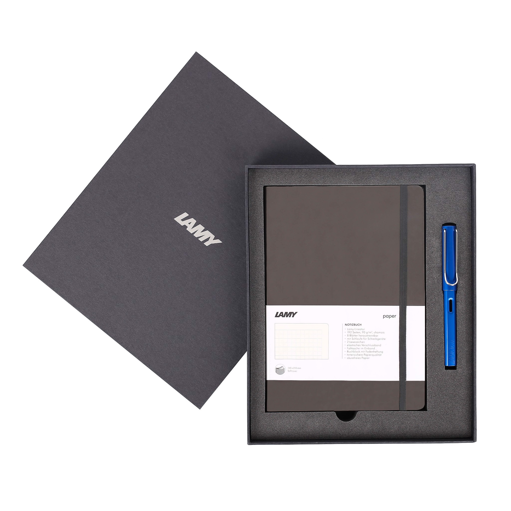 Gift set LAMY Notebook A5 softcover Umbra + LAMY Al-star Blue