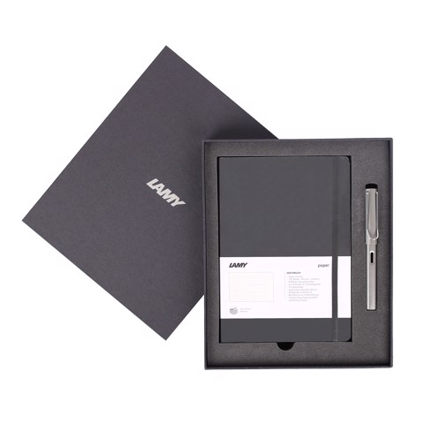 Gift set LAMY Notebook A5 softcover black + LAMY Al-star graphite