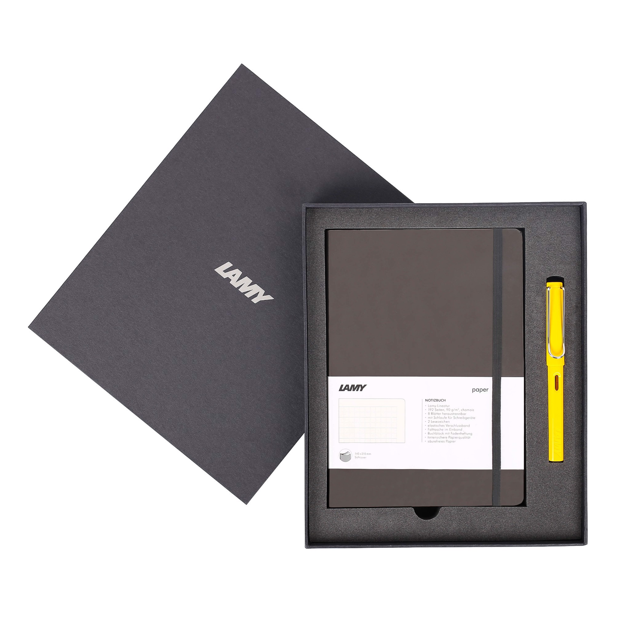LAMY Notebook A5 softcover Umbra + LAMY Safari Yellow