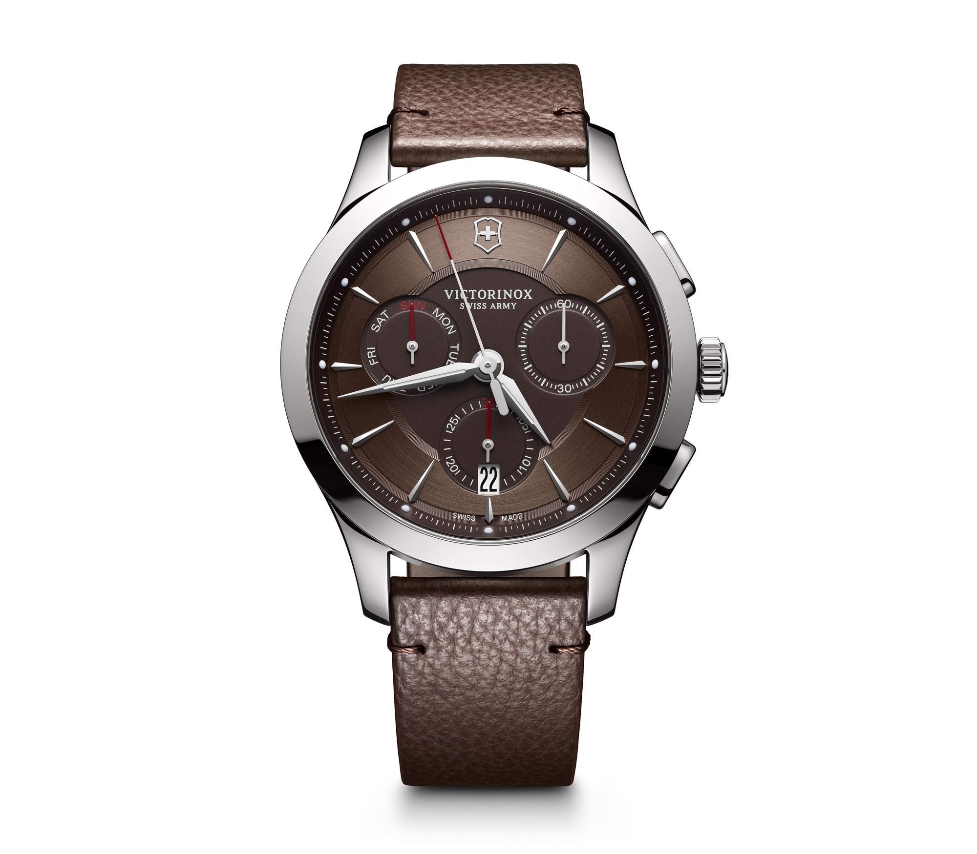 Đồng hồ Alliance Chronograph, 44 mm (Leather Brown)