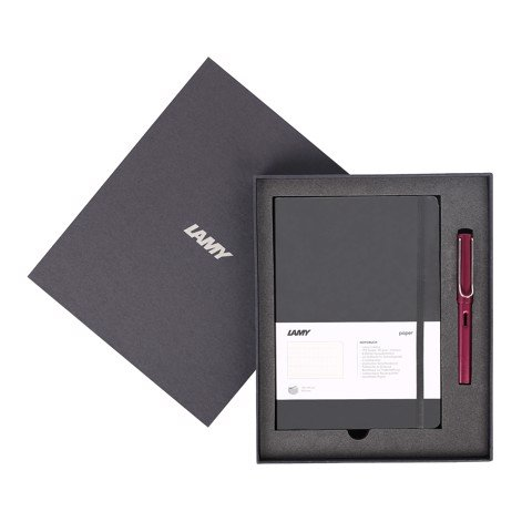 Gift set LAMY Notebook A5 softcover black + LAMY Al-star purple