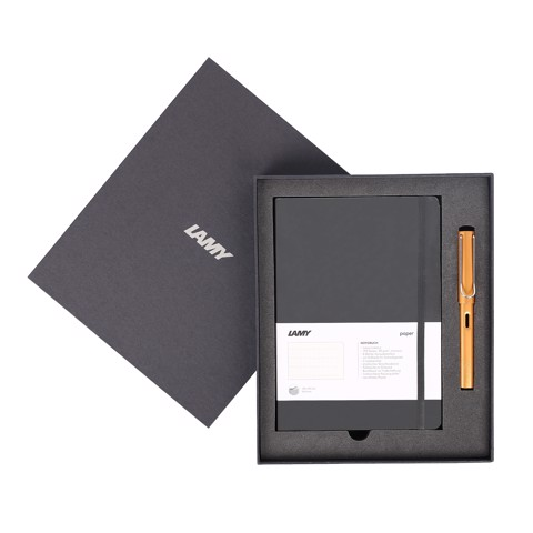 Gift set LAMY Notebook A5 softcover black + LAMY Al-star bronze