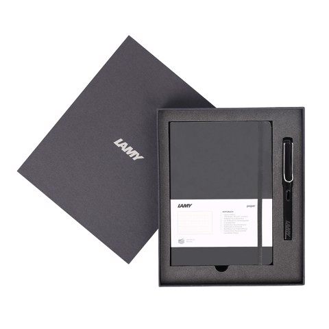 Gift set LAMY Notebook A5 softcover black + LAMY Safari Shiny Black