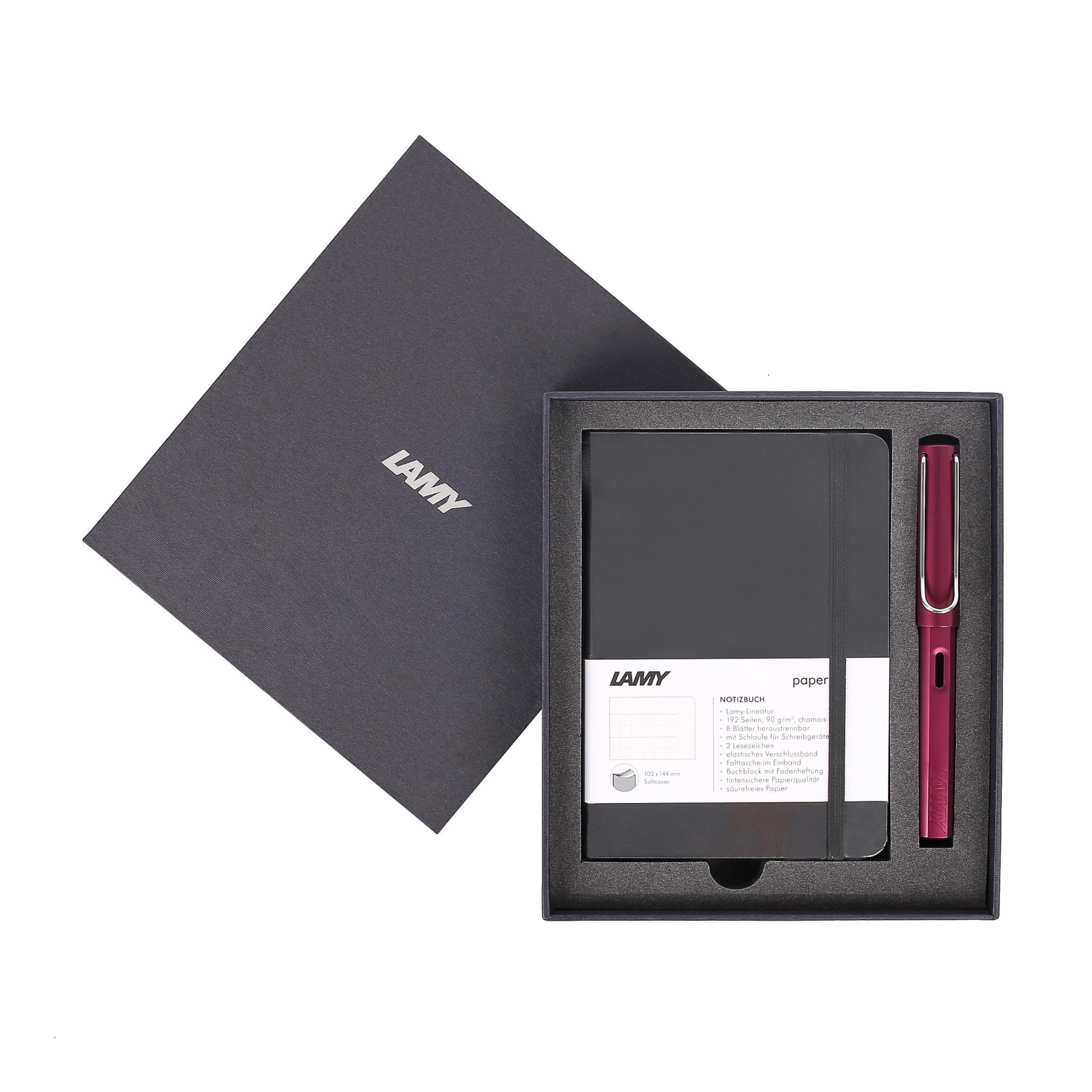 Gift set LAMY Notebook A6 softcover black + LAMY Al-star Purple