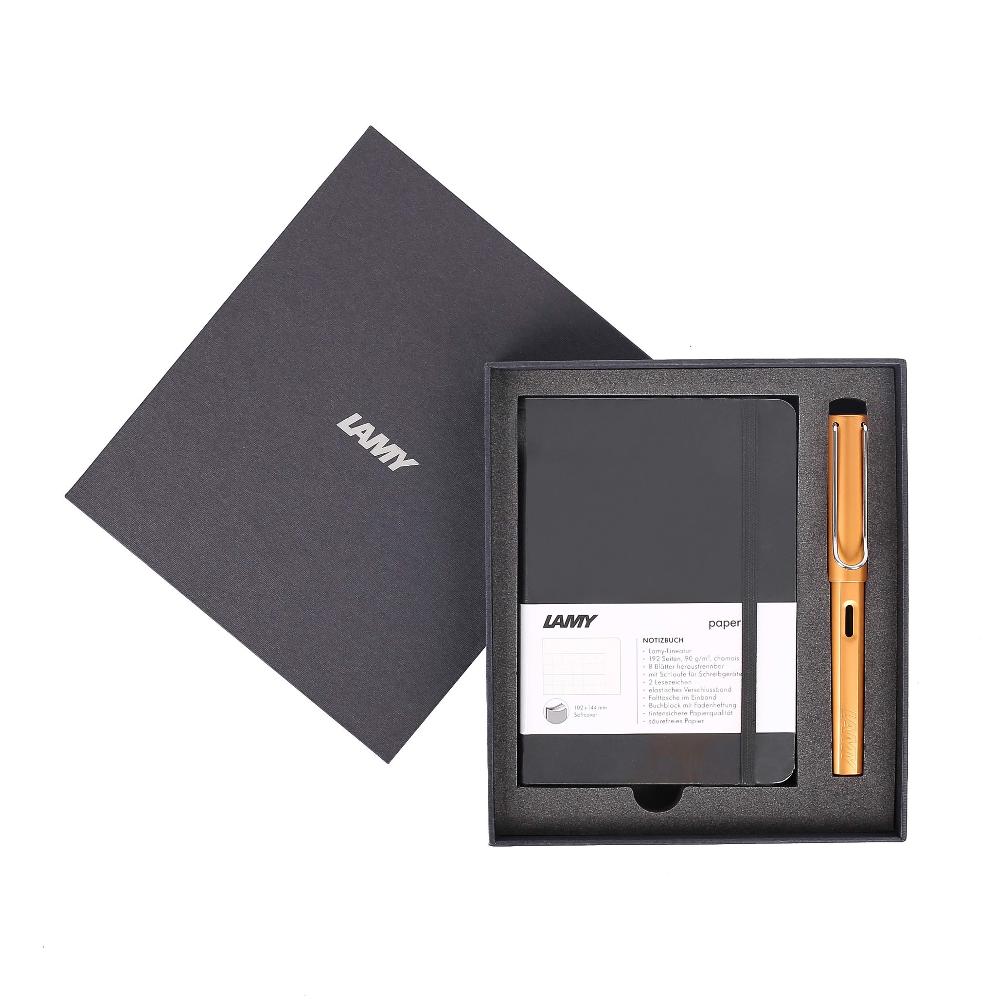 Gift set LAMY Notebook A6 softcover black + LAMY Al-star Bronze