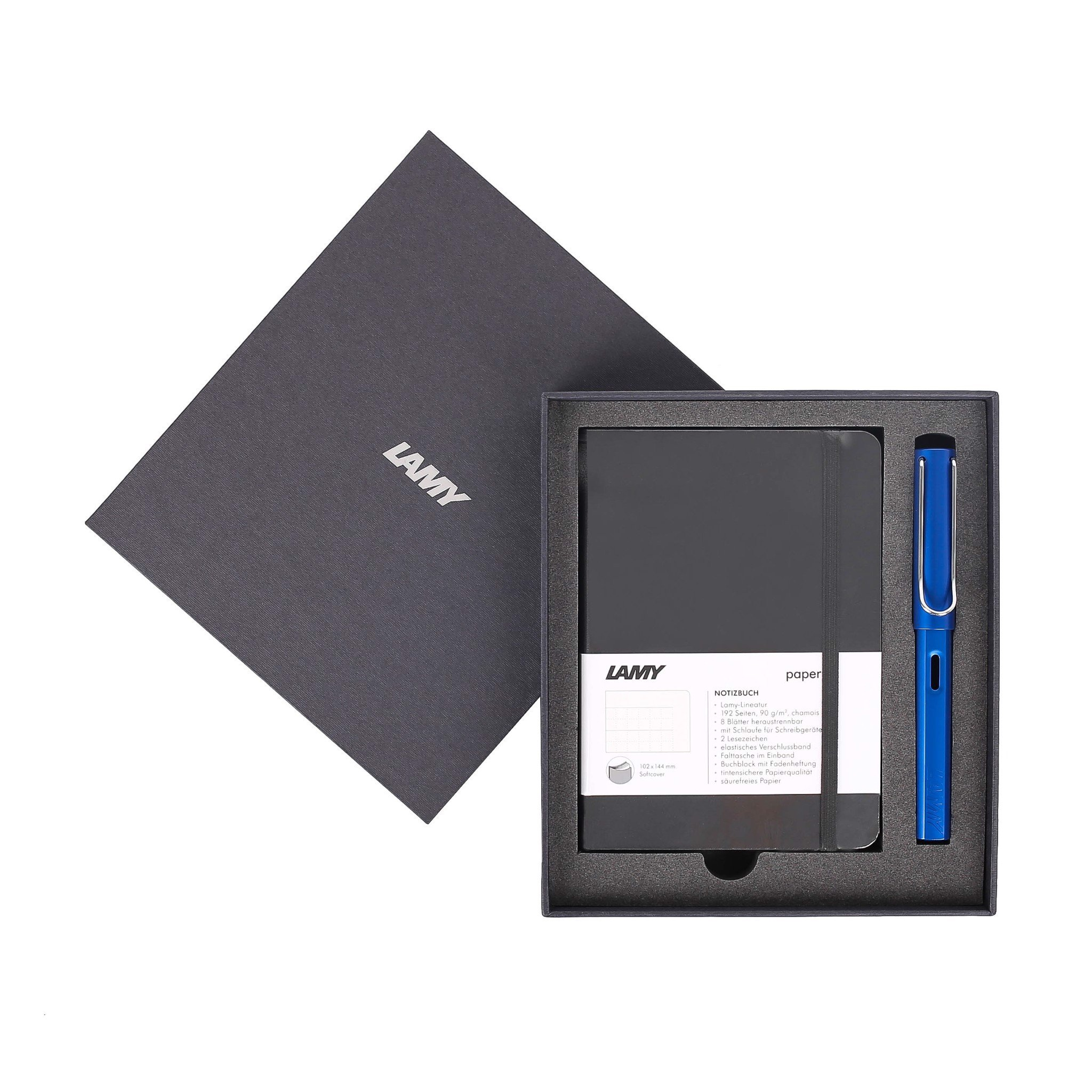 Gift set LAMY Notebook A6 softcover black + LAMY Al-star Blue