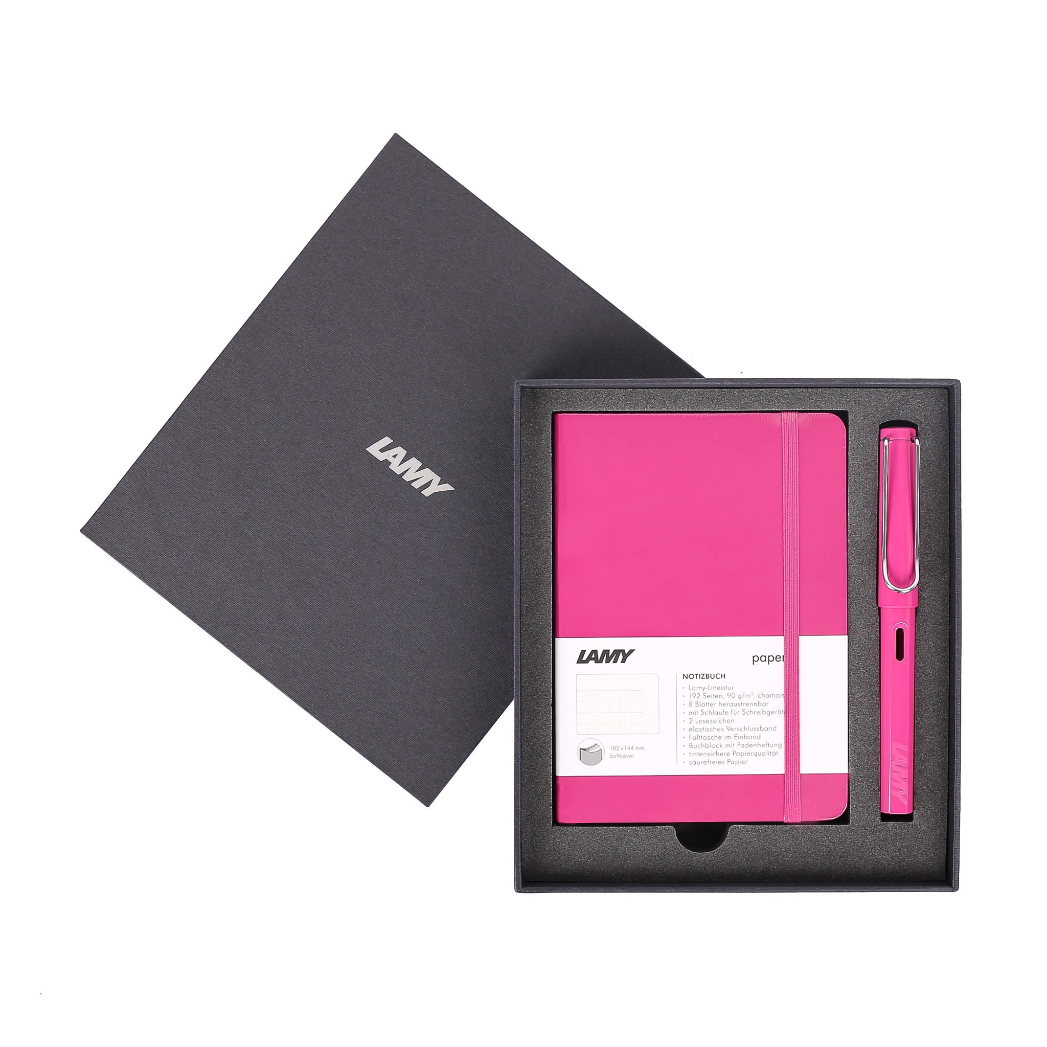 Gift set LAMY Notebook A6 softcover Pink + LAMY Safari Pink