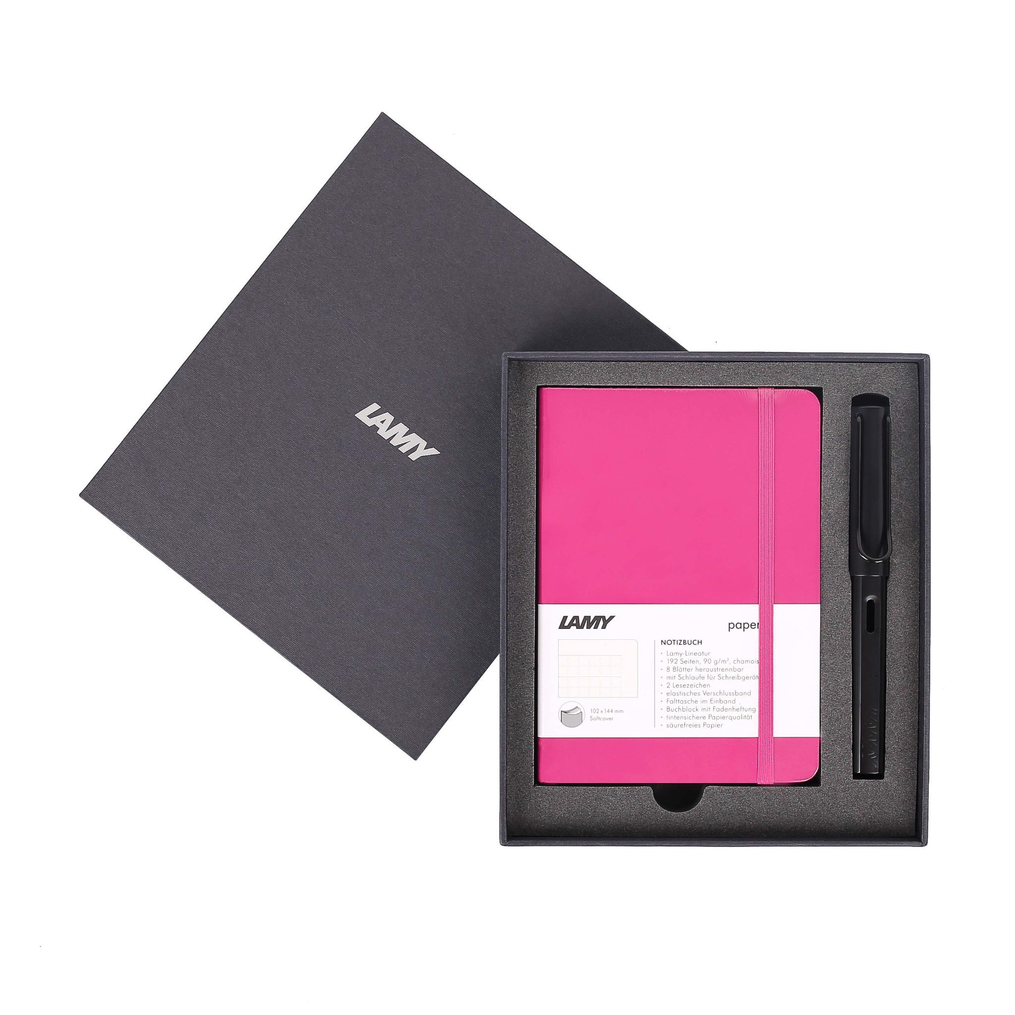Gift set LAMY Notebook A6 softcover Pink + LAMY Al-star Black