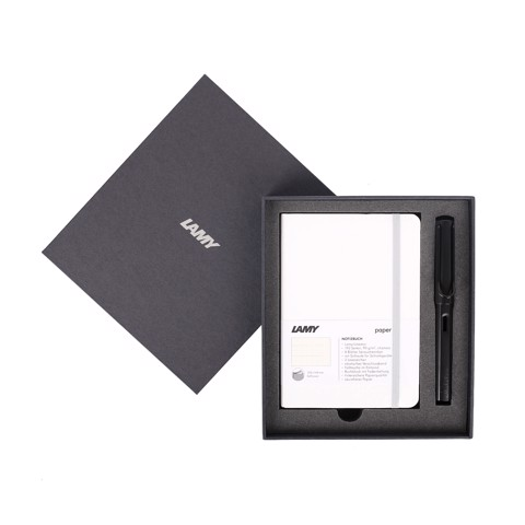 Gift set LAMY Notebook A6 softcover White + LAMY Al-star Black