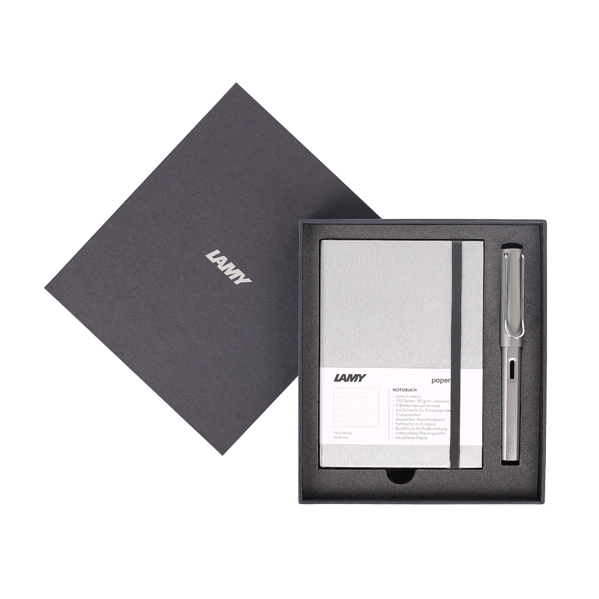 Gift set LAMY Notebook A6 softcover Grey + LAMY Al-star Grey