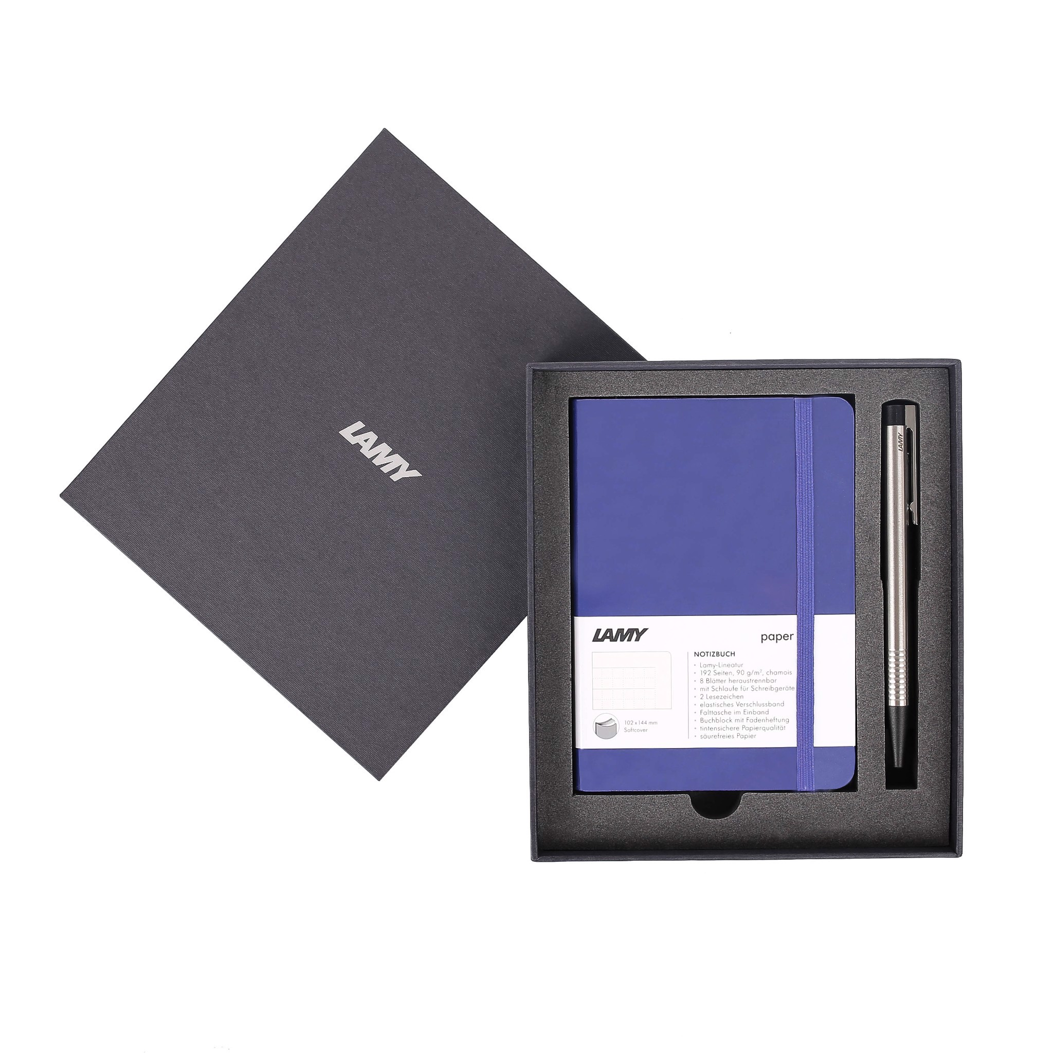 Gift set LAMY Notebook A6 softcover Blue + LAMY Logo Blue
