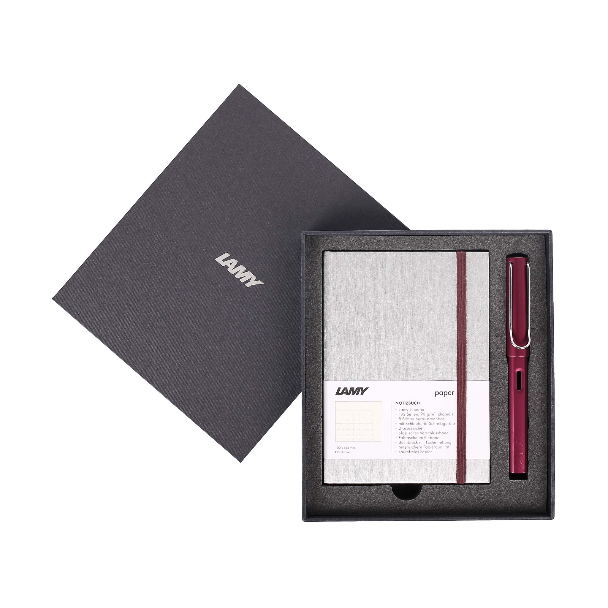 Gift set LAMY Notebook A6 softcover Grey + LAMY Al-star Purple