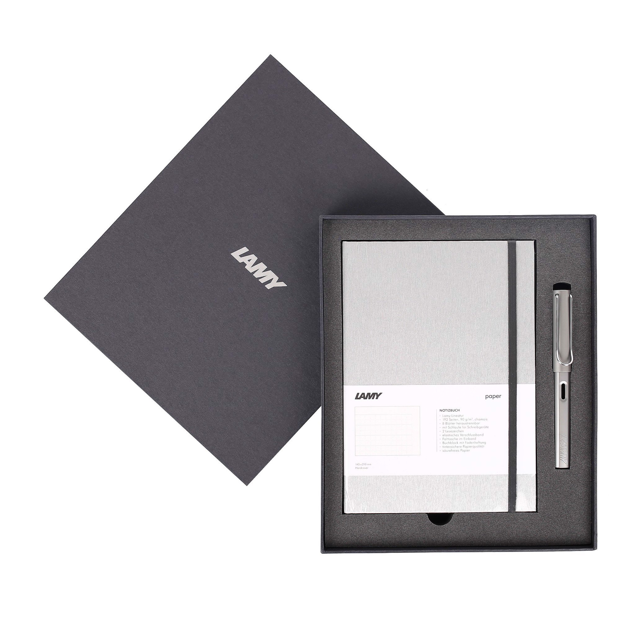 Gift set LAMY Notebook A5 softcover Grey + LAMY Al-star Grey