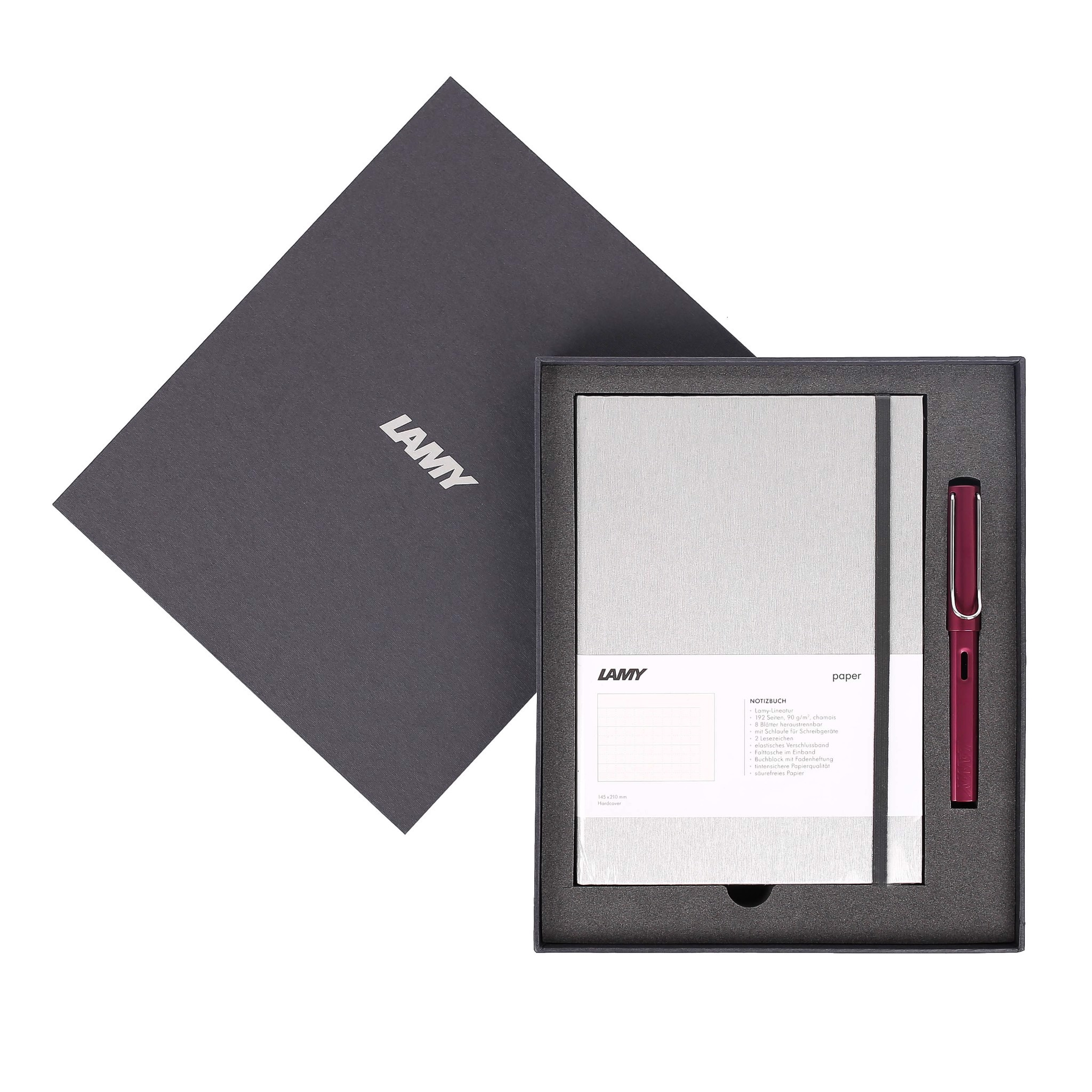 Gift set LAMY Notebook A5 softcover Grey + LAMY Al-star Purple