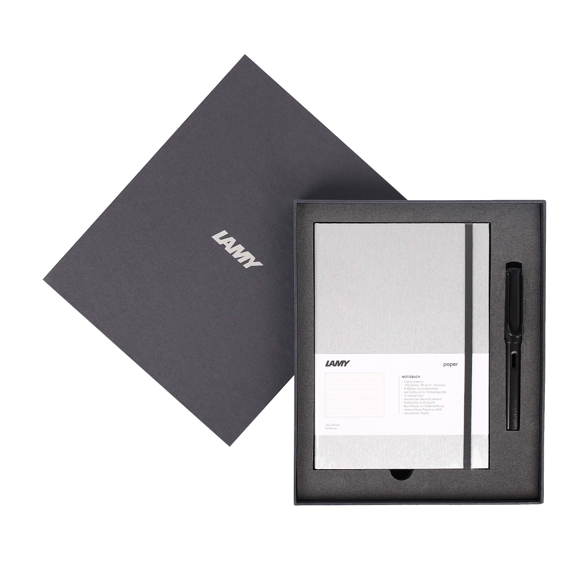 Gift set LAMY Notebook A5 softcover Grey + LAMY Al-star Black