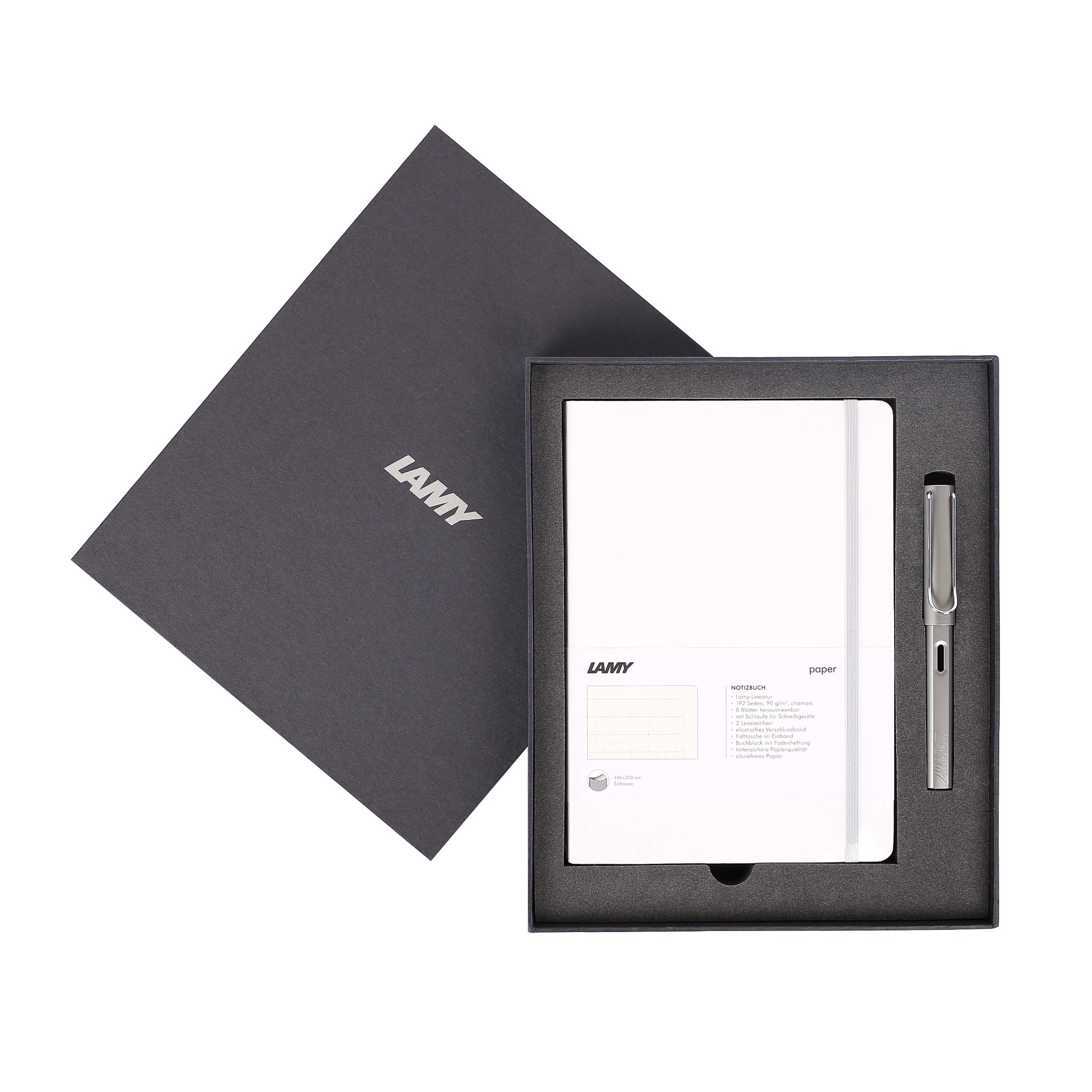 Gift set LAMY Notebook A5 softcover White + LAMY Al-star Grey