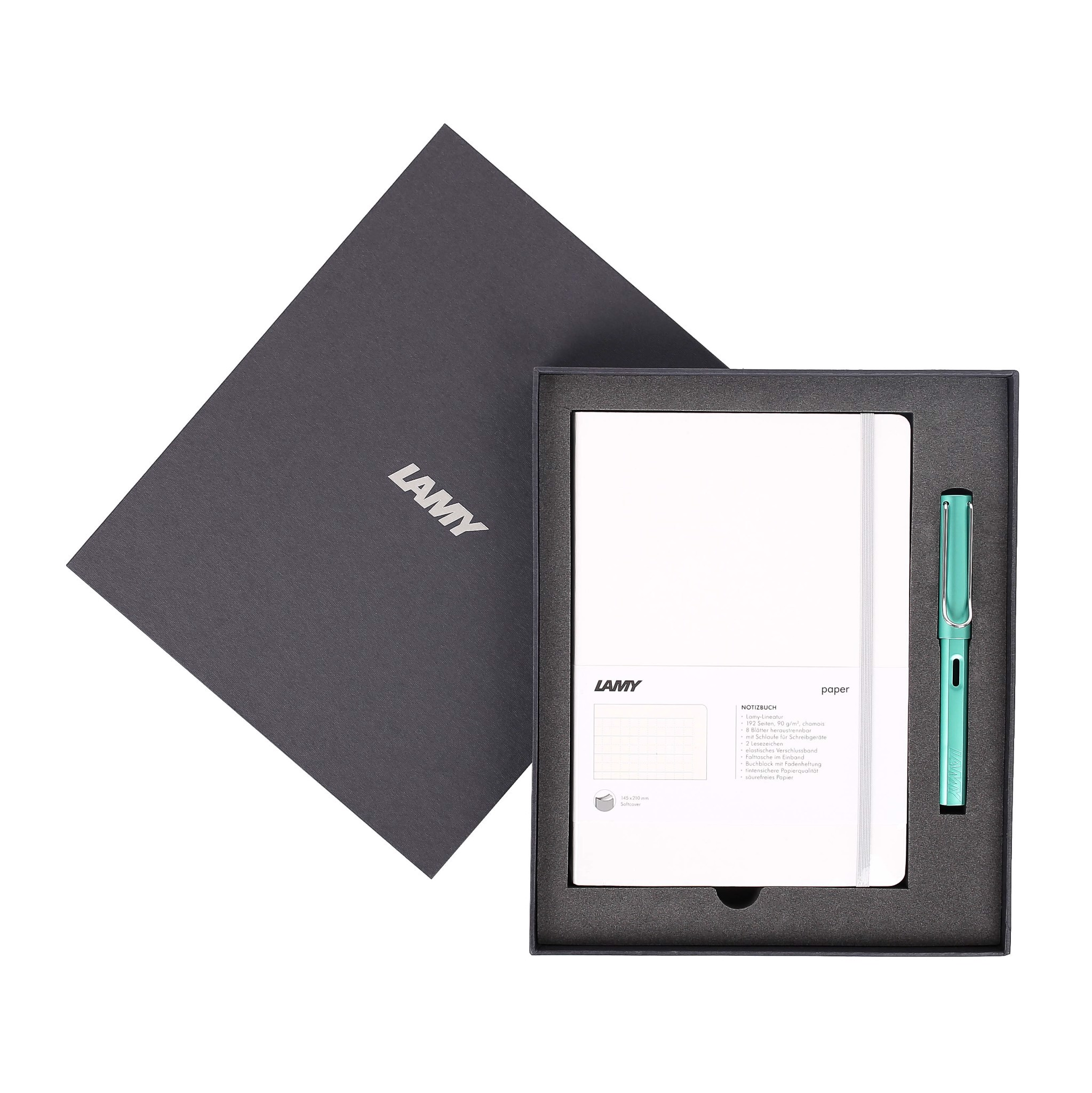 Gift set LAMY Notebook A5 softcover White + LAMY Al-star Bluegreen