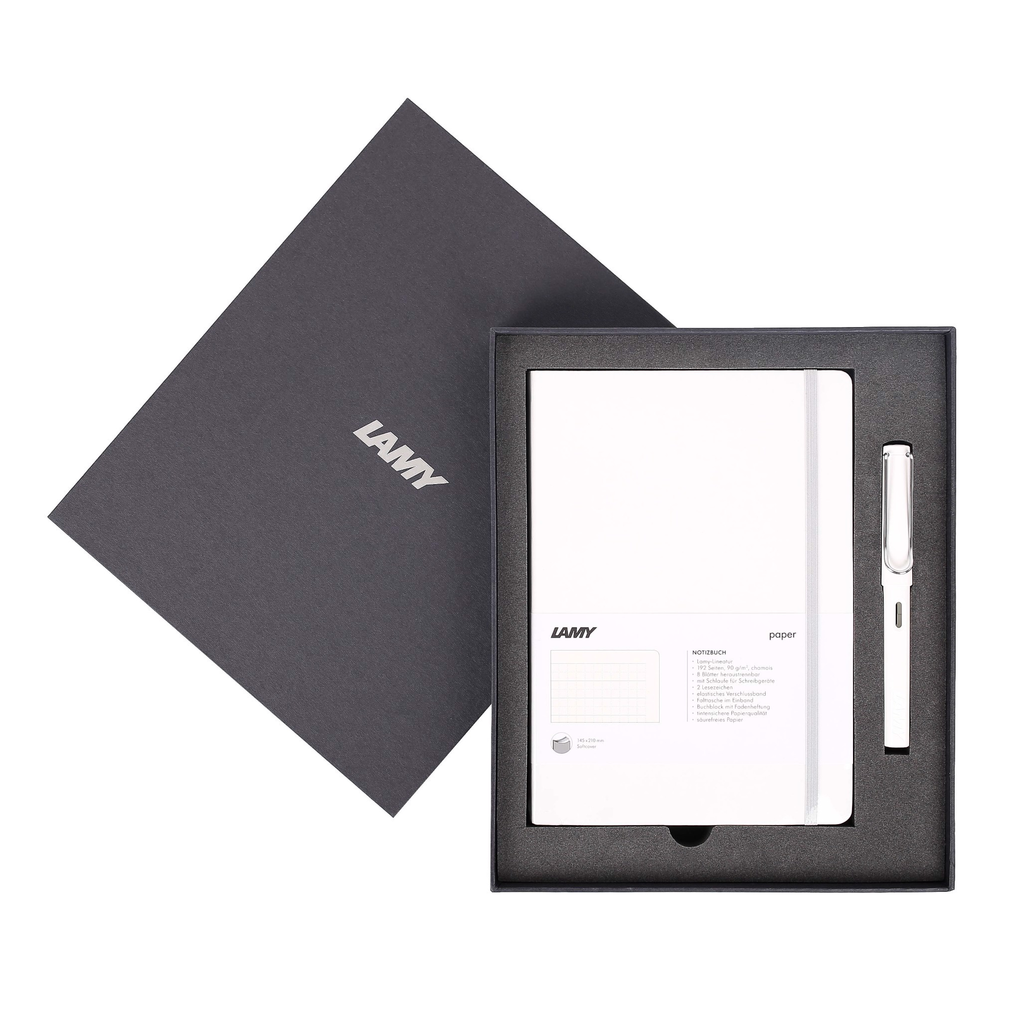 LAMY Notebook A5 softcover White + LAMY Safari White