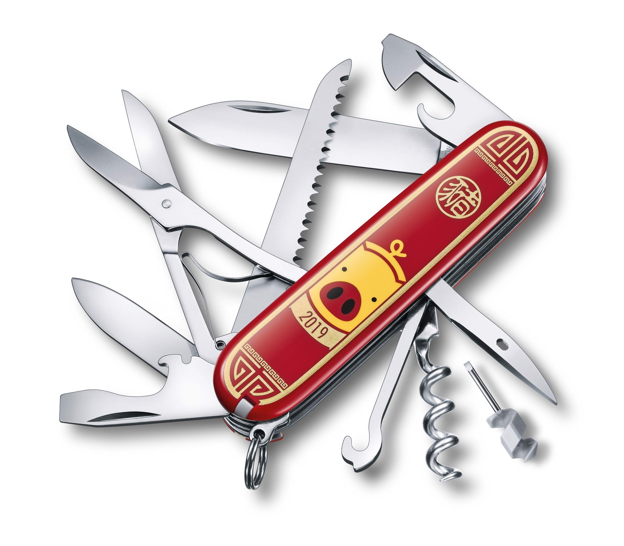 Dao xếp Victorinox Huntsman Year of the Pig 2019 (91mm)