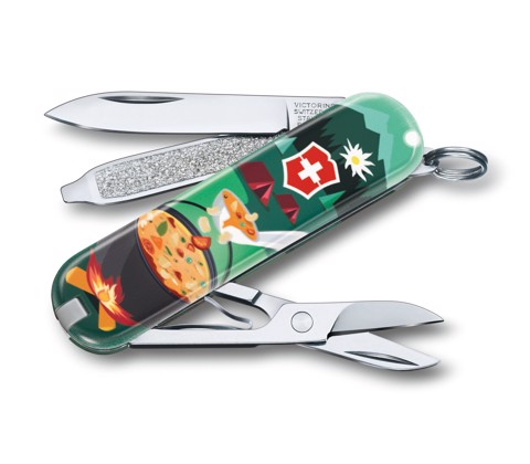 Dao xếp VICTORINOX Classic LE 2019 «Swiss Mountain Dinner»