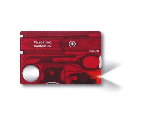 Victorinox Swiss Card Life Red Trans