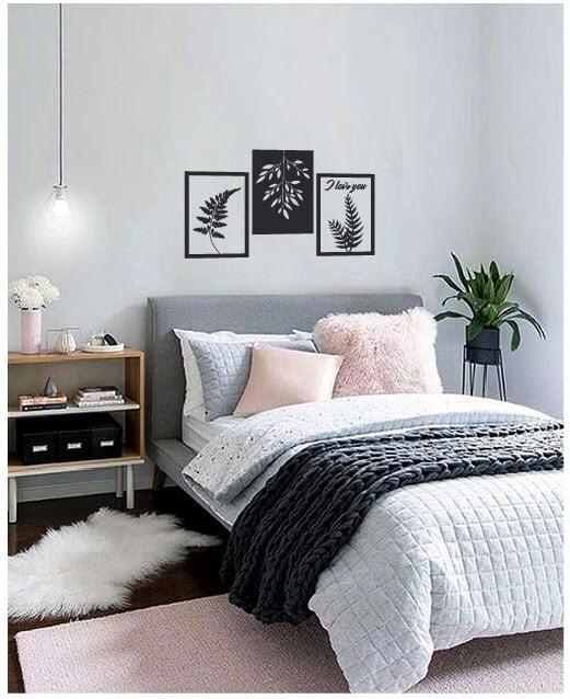 Decal dán tường phòng ngủ khung tranh