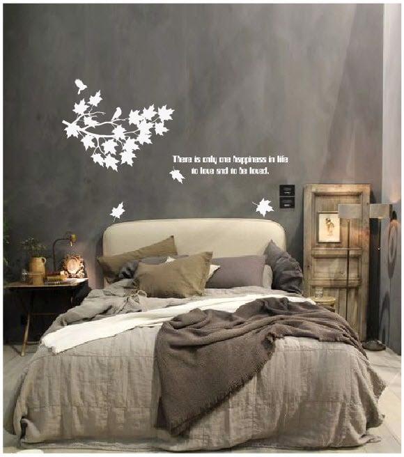Decal dán tường phòng ngủ cành cây