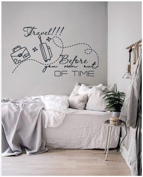 Decal dán tường phòng ngủ chữ