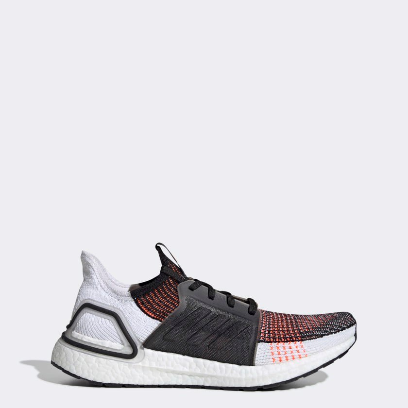 adidas Ultraboost 19 Shoes Men's BLACK WHITE