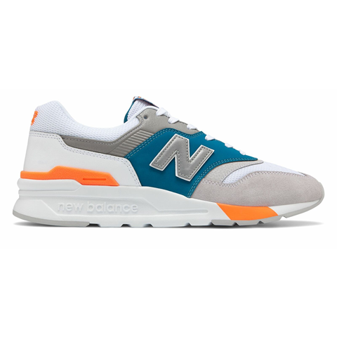 New Balance Men's 997H Shoes Grey with Orange
