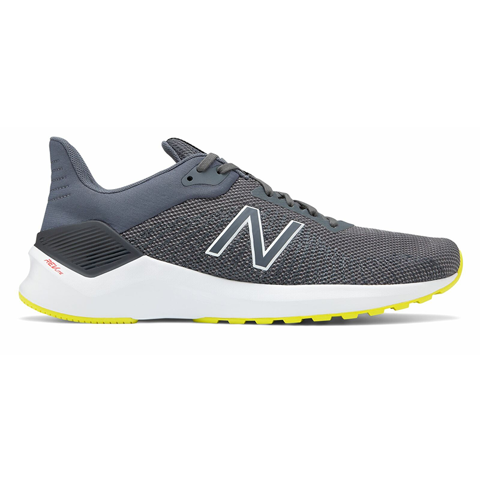 New Balance Men's VENTR Shoes Grey with Yellow