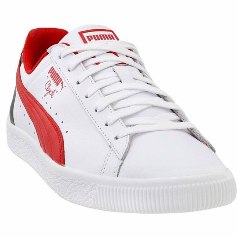 Puma Clyde Stripes Sneakers Casual Sneakers White Mens