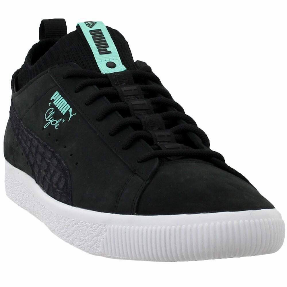 Puma Clyde Sock Low Diamond Sneakers Casual - Black - Mens