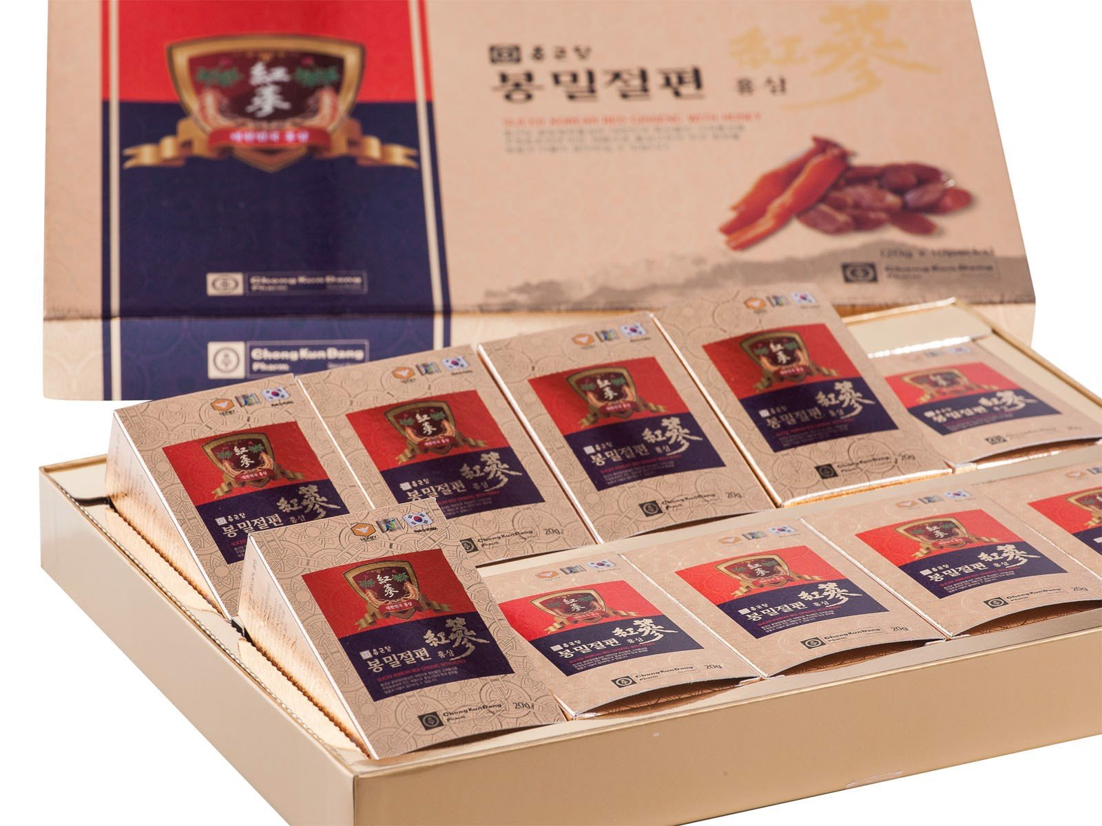 Sliced Korean Red Ginseng with honey
