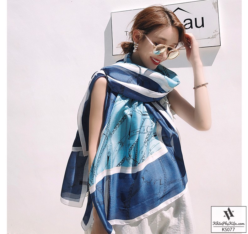 Bạn gái mệnh Mộc có thể chọn khăn choàng cổ nữ màu xanh lục