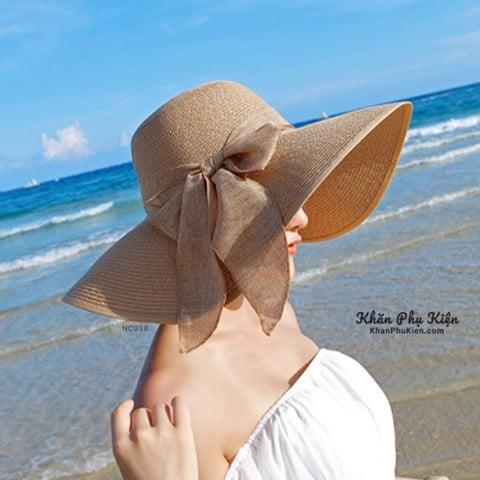 nón cói đi biển thời trang