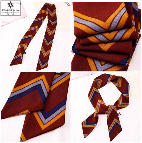 khăn turban họa tiết dáng dài