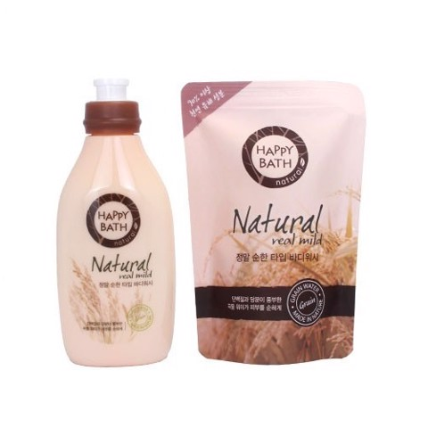 Sữa tắm Happy Bath Natural (Chai 500g)