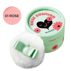 Phấn má hồng The Face Shop Lovely Meex Pastel Cushion Blusher 01 Rose Cushion 5g