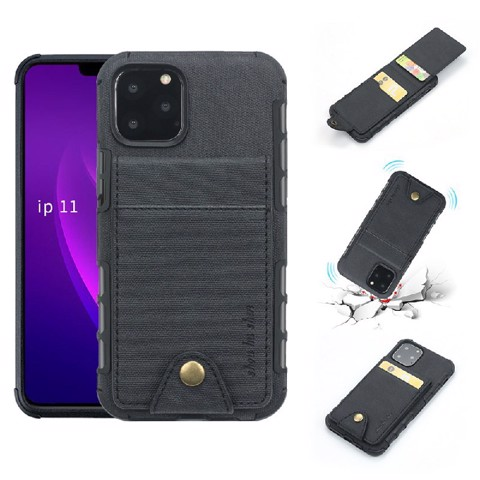 Ốp Lưng Anti-shock PU Leather Photo Card Cho iPhone 11 Pro
