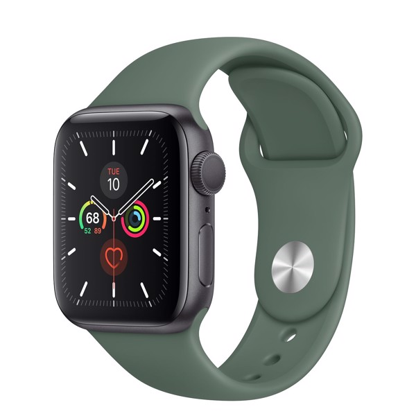 Apple Watch 5 40mm (GPS) bản Pine Green Viền Nhôm Đen MWV82