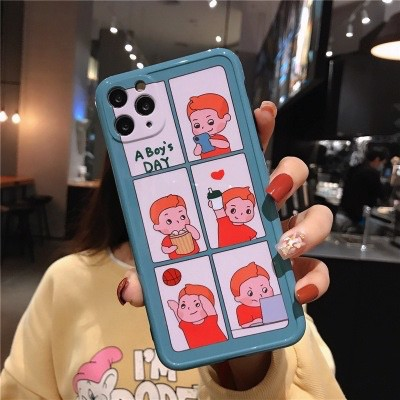 Ốp Lưng Silicone Chống Sốc Couple A Boy's Day Cho iPhone XS Max